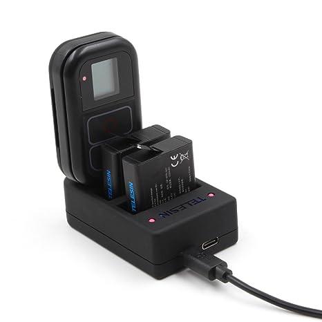 AuyKoo Cargador de Batería Universal de 3 Canales USB con 3 ...