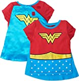 Wonder Woman Toddler Girls' Costume Tee Shirt with Cape Red (5T)