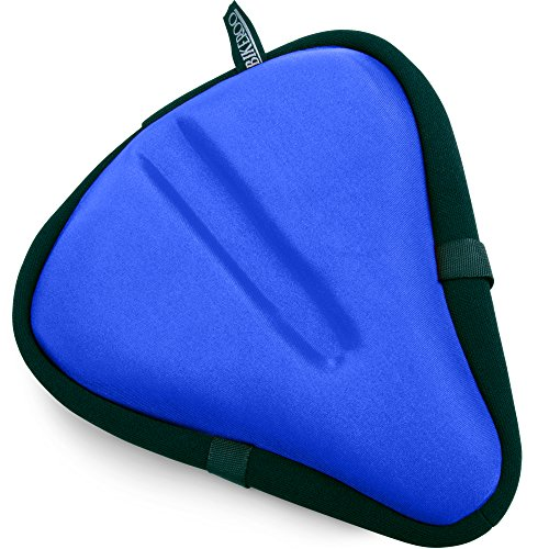 Felt Road Bikes (Large Exercise Bike Seat Cushion - Bicycle Wide Gel Soft Pad - Most Comfortable Bicycle Saddle Cover for Women and Men – Bikeroo bike seat gel cover fits Cruiser and Stationary Bikes, Indoor Cycling)