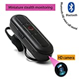 Ugetde HD 1080P Hidden Camera, Wireless Bluetooth Earphone ,Mini Spy Camcorder with high-performance Bluetooth headset, Photo Taking Function