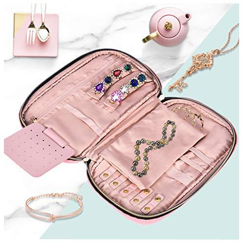 Jewelry Organizer Bag For Necklace, KIOLPO Travel Jewelry Organizer Travel Jewelry Storage Cases Jewelry Box for Necklace, Earrings, Rings, Bracelet