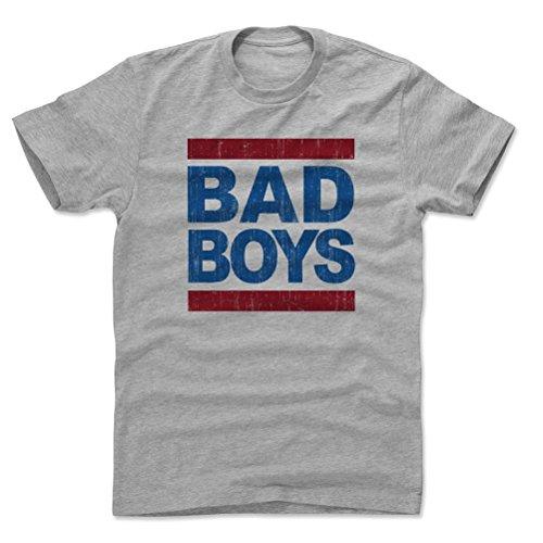 - 500 LEVEL Rick Mahorn Cotton Shirt Large Heather Gray - Vintage Detroit Basketball Men's Apparel - Rick Mahorn Bad Boy Font B