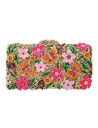 Fawziya Butterflies And Flowers Clutch Purses For Womens Purses And Handbags