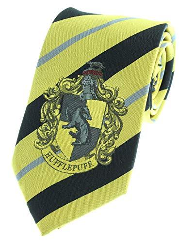 Premium Harry Potter Tie Striped House Crest Necktie (Hufflepuff)