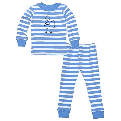 Under The Nile Pajamas (Under the Nile Kids Long Johns Set Blue Stripes (2T))
