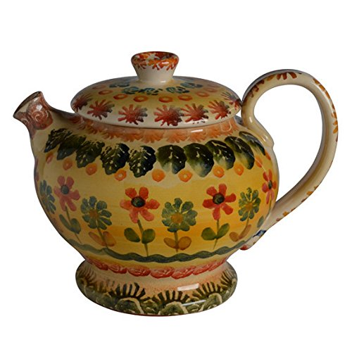 Italian Dinnerware -Tall Teapot – Handmade in Italy from our Festa Collection