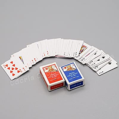 Odoria 1:12 Miniature Games Poker Playing Cards 2 Sets in 1 Pack Dollhouse Decoration Accessories: Toys & Games