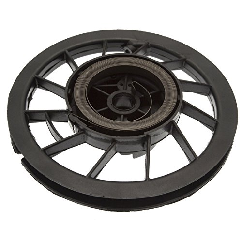 Woniu Pulley and Spring Replacement for Briggs & Stratton 498144 263074 281504 12A800 12B800 12D800 (Replacement Pulley)