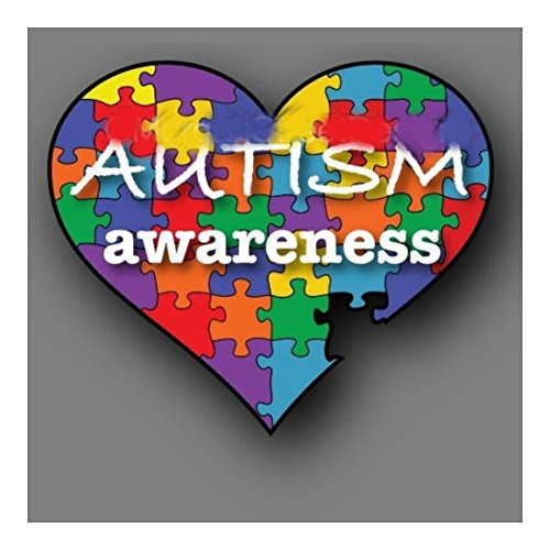 """Autism Awareness 6"""" Puzzle Heart Decal Sticker Car Truck by Unknown"""
