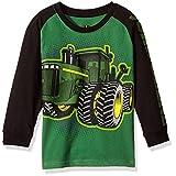 John Deere Little Boys' Long Sleeve Raglan Tee, Green Tractor, 6