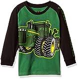 John Deere Little Boys' Long Sleeve Raglan Tee, Green Tractor, 4