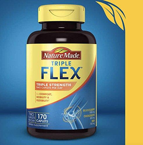 (Nature Made TripleFlex Triple Strength Caplet, Glucosamine Chondroitin, 1 Pack of 170)