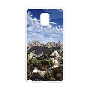 Blue Sky And Mountains White Phone For SamSung Note 3 Case Cover