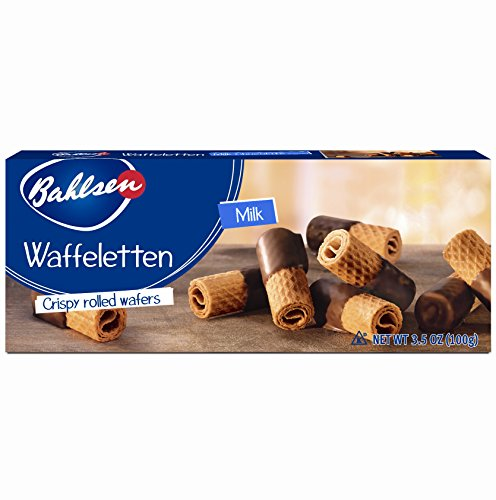 Bahlsen Waffeletten Milk Chocolate Dipped Cookies (1 box) - Delicate wafer rolls dipped in milky European chocolate - 3.5 oz ()