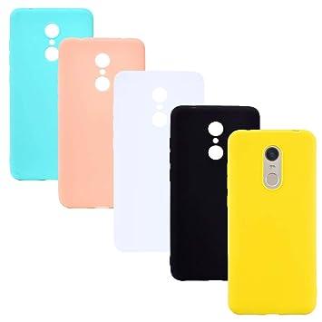 HereMore 5 x Funda para Xiaomi Redmi 5 Plus, Carcasa Protectora Suave Mate en Silicona Gel TPU Ultra Delgado Antigolpes Cubierta de Protección ...