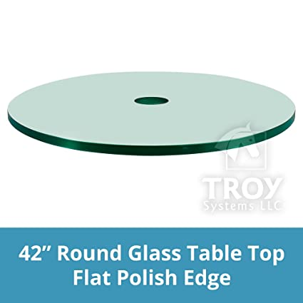 42u0026quot; Round Glass Patio Table Top, 1/4 Thick, Flat Polish Edge