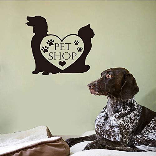 yiyiyaya Tienda de Mascotas Vinilo Etiqueta de la Pared Perro Gato ...
