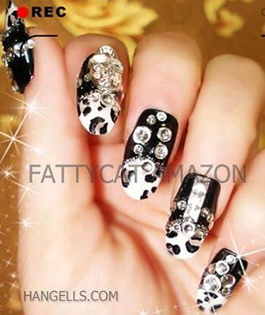 Amazon Fashion Japanese 3d Nail Art Black Skull 10 Full