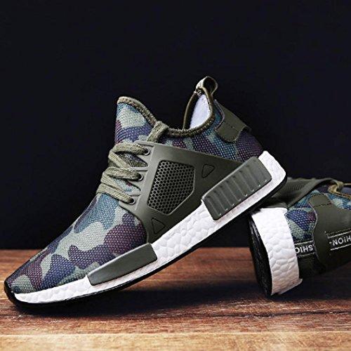 Morecome Mens Sneakers Atletiche Moda Casual Outdoor Running Scarpe Traspiranti Verde
