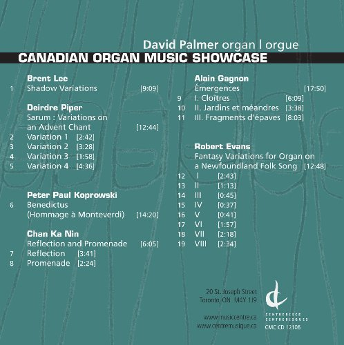 Canadian Organ Music Showcase by Canadian Organ Music Showcase (2009-11-01)
