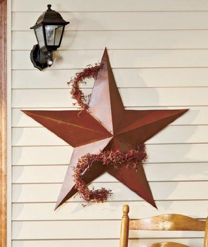 Large Vintage Rustic Metal Country Barn Star
