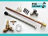 Outside Tap Kit Vandle Proof DIY Professional finish 355 mm wall Flange 600 Flexi [GT1d]