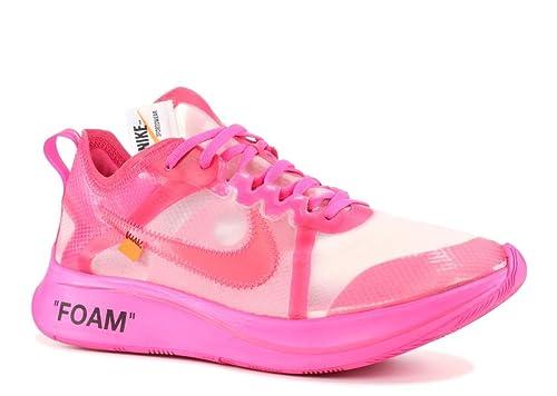 20c86f3e44f3e NIKE Zoom Fly x Off White - Tulip Pink/Racer Pink Trainer: Amazon.co ...