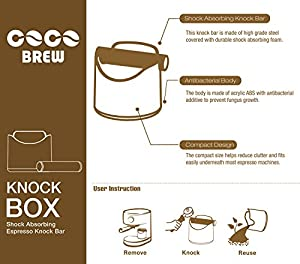 CoCo Brew, Espresso Knock Box - Durable 4.7 Inch, Barista Style Sturdy Shock-Absorbent Knockbox - Dishwasher Safe from CoCo Brew