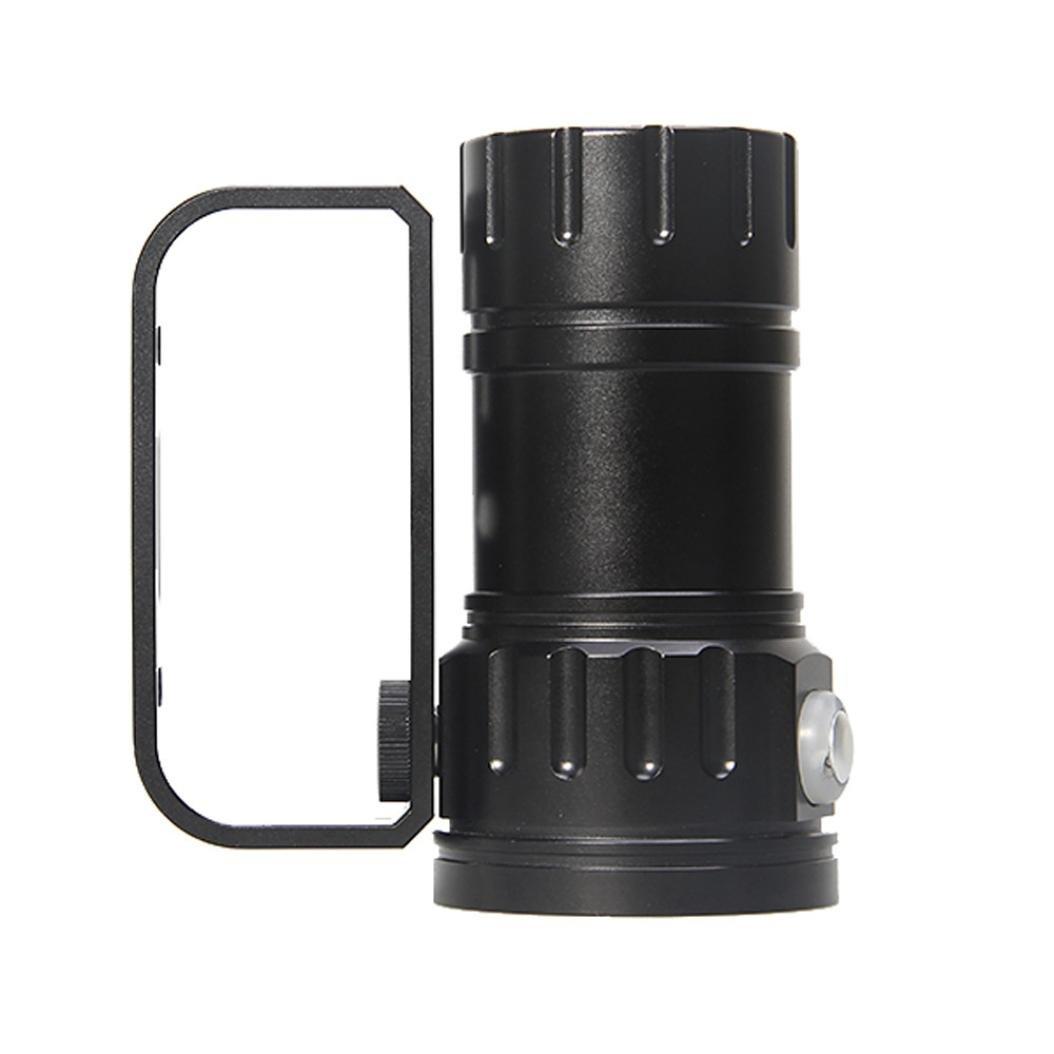 Taschenlampen DOGZI 80m LED Tauchen Taschenlampe Fotografie Licht Unterwasser IPX8 Wasserdichte Taschenlampe Lampe