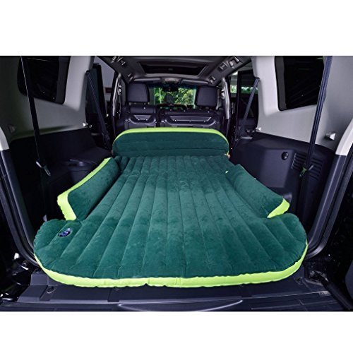 Jeep Bed (Wolfwill SUV Dedicated Mobile Cushion Extended Travel Mattress Air Bed Inflatable Thicker Back Seat (Green))