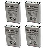 Hitech- 4 Batteries for Symbol BTRY-MC10AEB00, 55-060126-02, MC1000 Barcode Scanners
