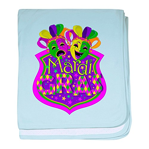 Royal Lion Baby Blanket Mardi Gras Comedy Tragedy