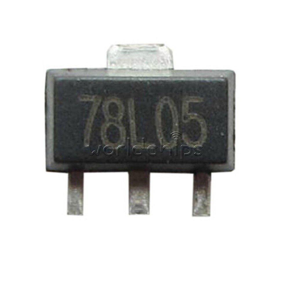 50PCS 78L05 5V SOT89 Regulators Transistor SMD transistor NEW