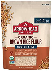 Arrowhead Mills Organic Gluten Free Brown Rice Flour, 24