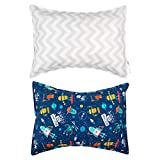 ALVABABY 2 Pack Toddler Pillowcase,100% Organic Cotton,Soft and Light, Baby Shower Gift for Boys...