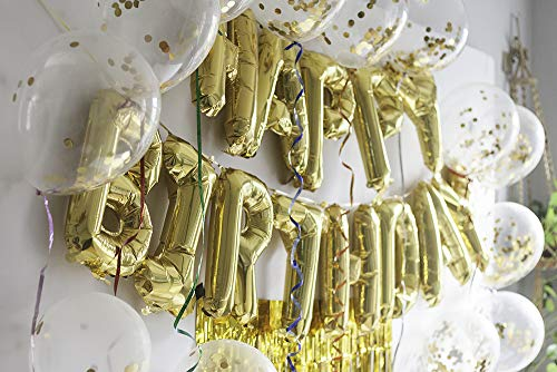 40th Birthday Decorations and photo Backdrop with Happy Birthday Banner, Confetti Balloons, Fringe Curtain and Curling Ribbon I Fiesta Party Supplies