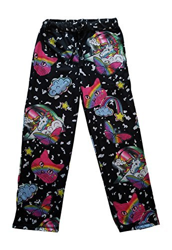 Top Drawer Mens Sleep Lounge Pants Unicorns Kitty Cat Heads Rainbows Butterflies Graphic (XX-Large (44-46)) -
