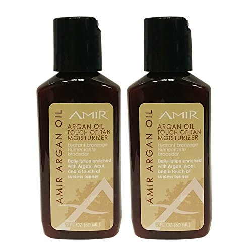 "Amir Argan Oil 'Touch of Tan' Moisturizer 2oz ""Pack of 2"" -"