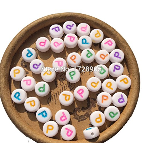 (EmmaGreen Alphabet Letter Beads Colorful a-z Single Letters DIY Bracelet Necklace Making and Kids Jewelry Craft Beads - Acrylic Letter Beads)