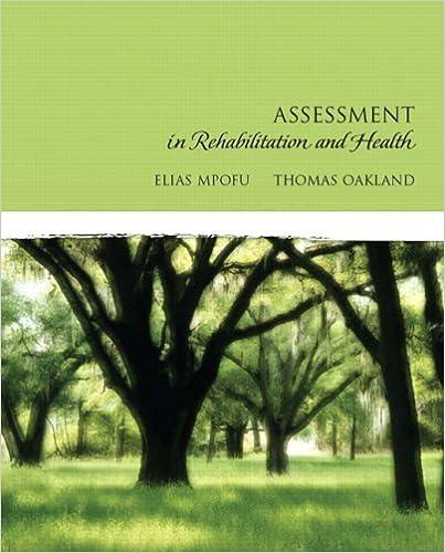 Gratis å laste ned lydbøker Assessment in Rehabilitation and Health by Elias Mpofu,Thomas Oakland PDF