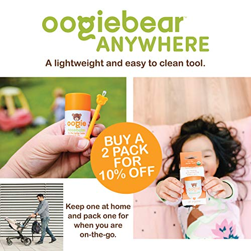 oogiebear - The Safe Baby Nasal Booger and Ear Cleaner - Baby Shower Registry Essential | Easy Baby Nose Cleaner Gadget for Infants and Toddlers | Dual Earwax and Snot Removal (Blue, Single)