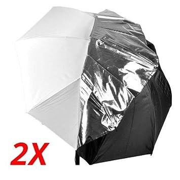 CowboyStudio 2X 40in White Satin Umbrella Reflective Silver Backing Removable Black Cover Yanyee International Inc. 2x 40 detachable umbrella