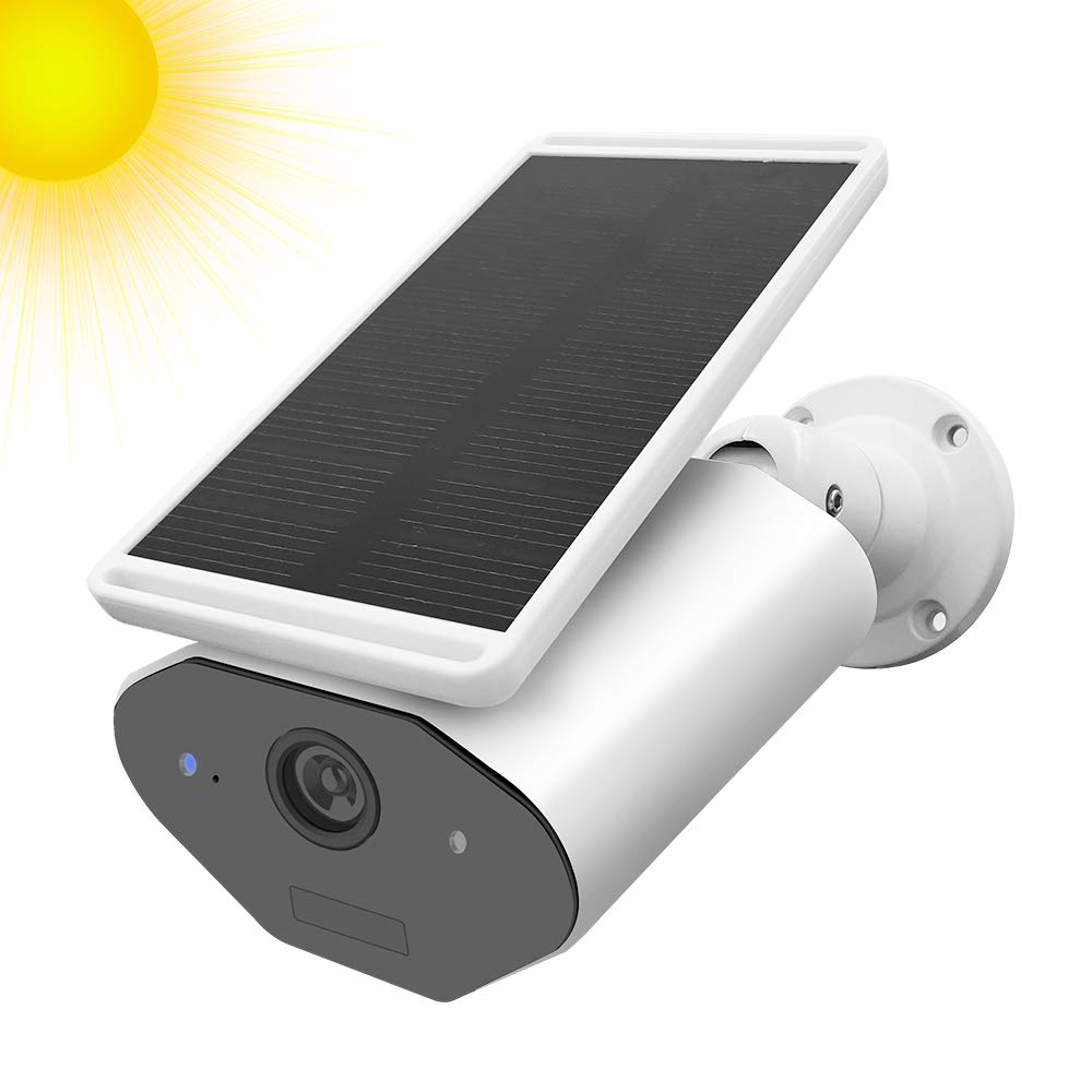 StartVision Outdoor Solar Powered Security Camera, WiFi IP Camera with Motion Detection Alarm, Night Vision and Cloud Storage, Quadrant Display/Multi-Users Access/Built in Battery, IP65 Waterproof by StartVision