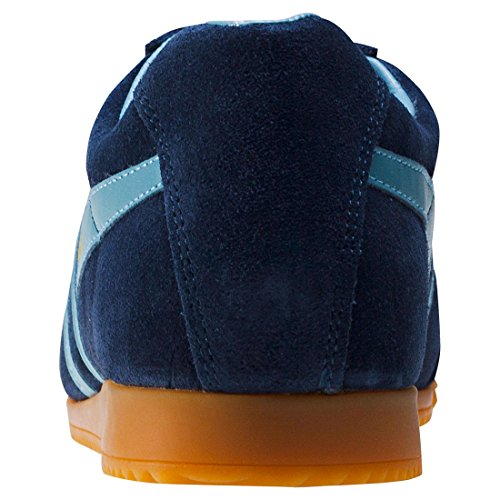 Gola Mens Classics Harrier Suede Trainers Navy / Sky Blue