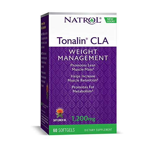 - Natrol Tonalin CLA Softgels, Derived from Safflower Plant, Promotes Lean Muscle Mass, Helpes Increase Muscle Retention, Promotes Fat Metabolism, Weight Management Supplement, 1,200mg, 60 Count