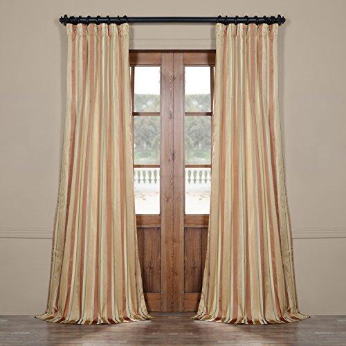 Half Price Drapes Pts-SLK16-108 Luxury Faux Silk Stripe Curtain, 50 x 108