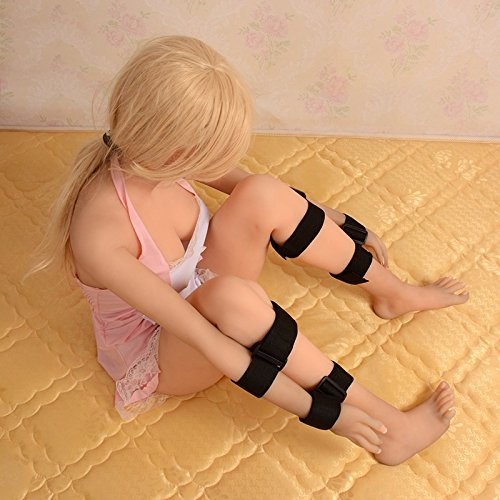 Leather Leg Hand Cuffs Set Fetish BDSM Bondage Restraint, Hand Cuffs Locking Hands to Leg Harness, Couples Sex Games Sex Toys by AdultS