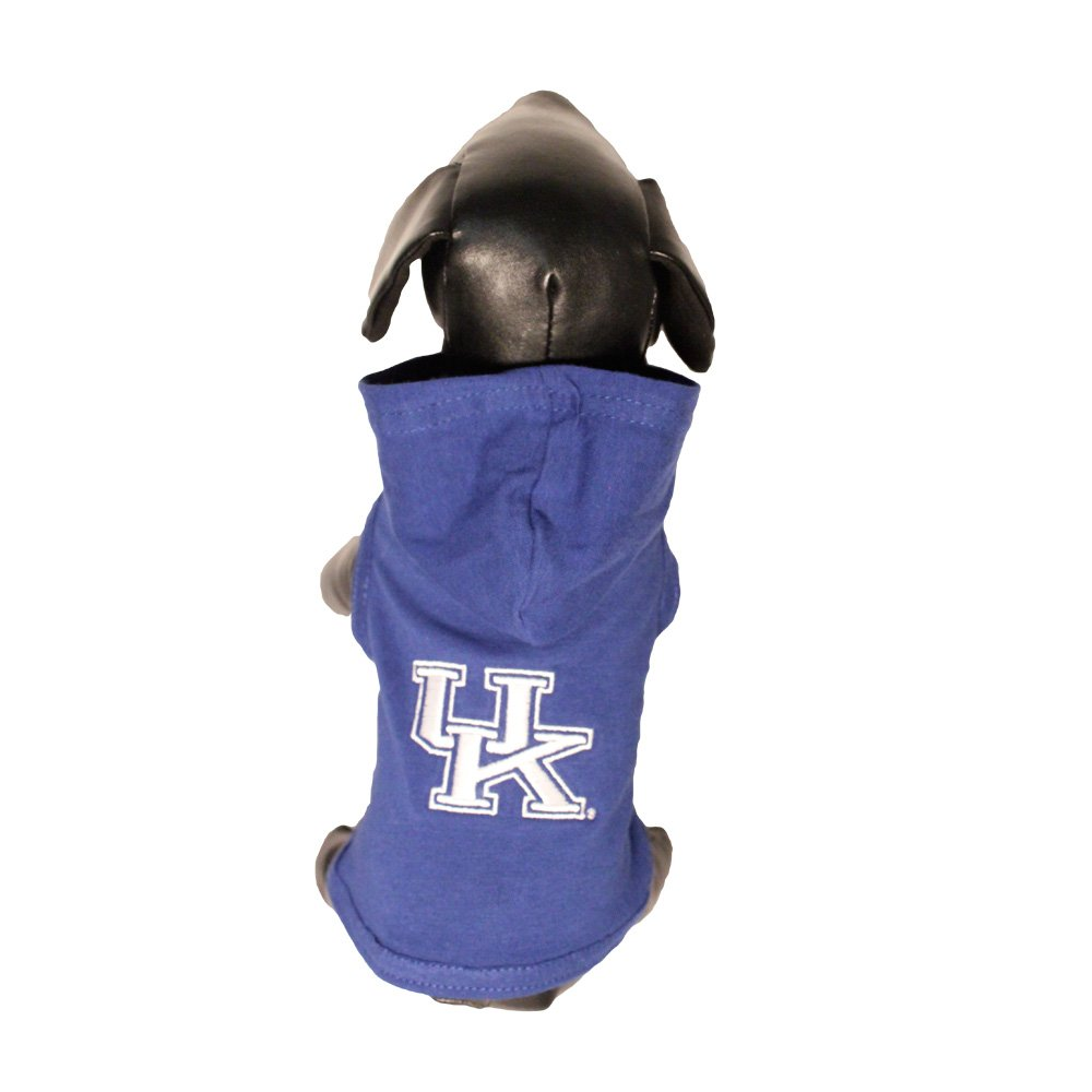 NCAA Kentucky Wildcats Collegiate Cotton Lycra Hooded Dog Shirt (Team Color, X-Small) by All Star Dogs