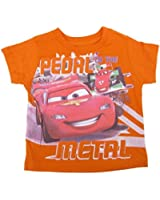 Disney Baby Boys Orange Cars Lightning McQueen Print T-Shirt 12-24M