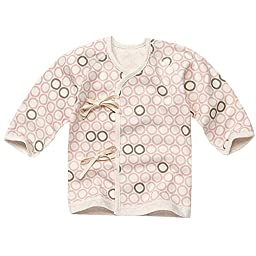 WithOrganic Ladybug Pink Double Layer Cotton Infant Swaddle Shirt Baby Kimono Top